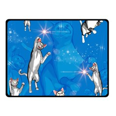 Funny, Cute Playing Cats With Stras Fleece Blanket (Small)