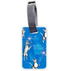 Funny, Cute Playing Cats With Stras Luggage Tags (One Side)