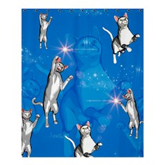 Funny, Cute Playing Cats With Stras Shower Curtain 60  x 72  (Medium)