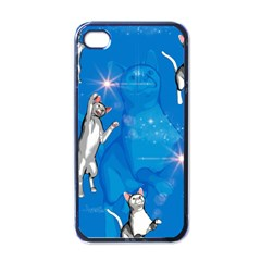 Funny, Cute Playing Cats With Stras Apple iPhone 4 Case (Black)