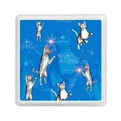 Funny, Cute Playing Cats With Stras Memory Card Reader (square)