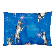 Funny, Cute Playing Cats With Stras Pillow Cases (two Sides)