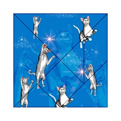 Funny, Cute Playing Cats With Stras Acrylic Tangram Puzzle (6  X 6 )