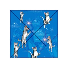 Funny, Cute Playing Cats With Stras Acrylic Tangram Puzzle (4  x 4 )