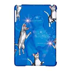 Funny, Cute Playing Cats With Stras Apple iPad Mini Hardshell Case (Compatible with Smart Cover)