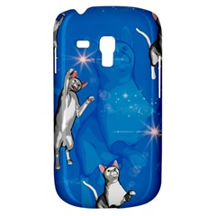 Funny, Cute Playing Cats With Stras Samsung Galaxy S3 MINI I8190 Hardshell Case