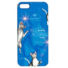Funny, Cute Playing Cats With Stras Apple iPhone 5 Hardshell Case with Stand