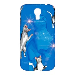 Funny, Cute Playing Cats With Stras Samsung Galaxy S4 I9500/I9505 Hardshell Case