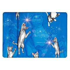Funny, Cute Playing Cats With Stras Samsung Galaxy Tab 10.1  P7500 Flip Case
