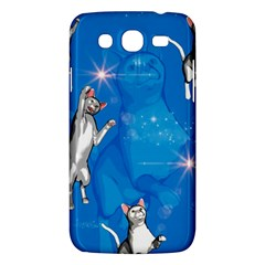 Funny, Cute Playing Cats With Stras Samsung Galaxy Mega 5.8 I9152 Hardshell Case