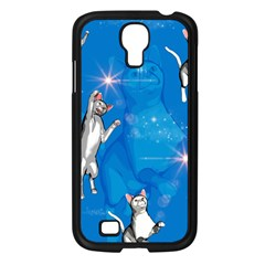 Funny, Cute Playing Cats With Stras Samsung Galaxy S4 I9500/ I9505 Case (Black)