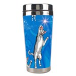 Funny, Cute Playing Cats With Stras Stainless Steel Travel Tumblers Left
