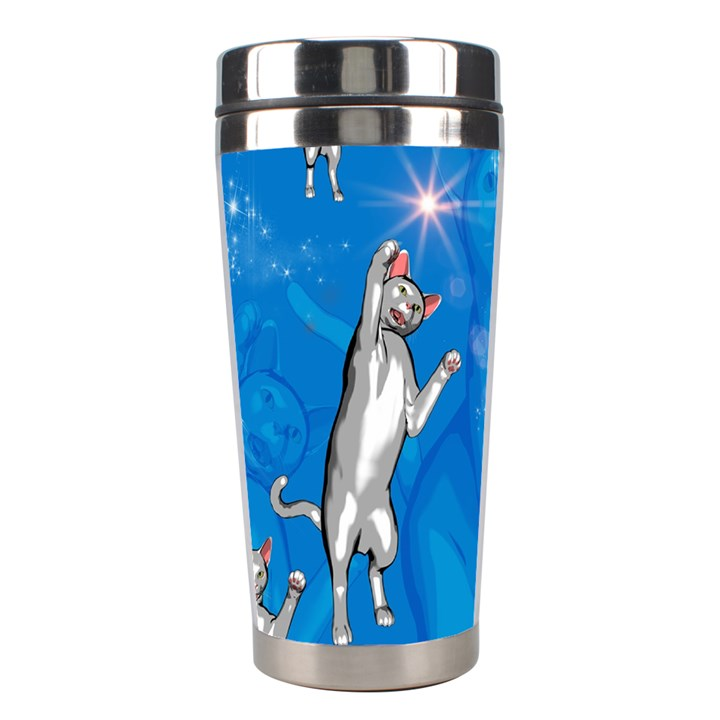 Funny, Cute Playing Cats With Stras Stainless Steel Travel Tumblers