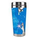 Funny, Cute Playing Cats With Stras Stainless Steel Travel Tumblers Right