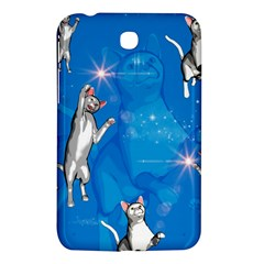 Funny, Cute Playing Cats With Stras Samsung Galaxy Tab 3 (7 ) P3200 Hardshell Case