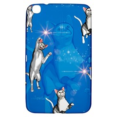 Funny, Cute Playing Cats With Stras Samsung Galaxy Tab 3 (8 ) T3100 Hardshell Case
