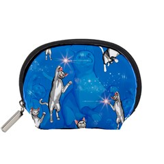 Funny, Cute Playing Cats With Stras Accessory Pouches (Small)