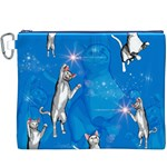 Funny, Cute Playing Cats With Stras Canvas Cosmetic Bag (XXXL)  Front