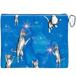 Funny, Cute Playing Cats With Stras Canvas Cosmetic Bag (XXXL)  Back