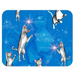 Funny, Cute Playing Cats With Stras Double Sided Flano Blanket (Medium)