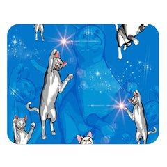 Funny, Cute Playing Cats With Stras Double Sided Flano Blanket (Large)