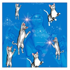 Funny, Cute Playing Cats With Stras Large Satin Scarf (Square)