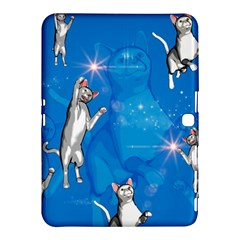 Funny, Cute Playing Cats With Stras Samsung Galaxy Tab 4 (10 1 ) Hardshell Case