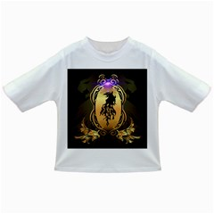 Lion Silhouette With Flame On Golden Shield Infant/Toddler T-Shirts
