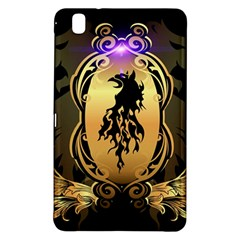 Lion Silhouette With Flame On Golden Shield Samsung Galaxy Tab Pro 8.4 Hardshell Case