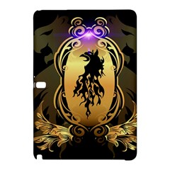 Lion Silhouette With Flame On Golden Shield Samsung Galaxy Tab Pro 12.2 Hardshell Case