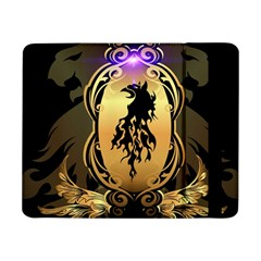 Lion Silhouette With Flame On Golden Shield Samsung Galaxy Tab Pro 8.4  Flip Case