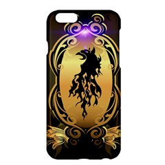 Lion Silhouette With Flame On Golden Shield Apple Iphone 6 Plus/6s Plus Hardshell Case