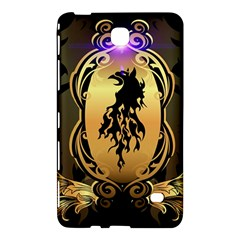 Lion Silhouette With Flame On Golden Shield Samsung Galaxy Tab 4 (7 ) Hardshell Case