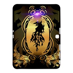 Lion Silhouette With Flame On Golden Shield Samsung Galaxy Tab 4 (10 1 ) Hardshell Case
