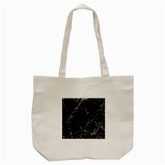 Black marble Stone pattern Tote Bag (Cream)