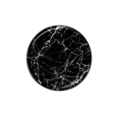 Black marble Stone pattern Hat Clip Ball Marker (4 pack)