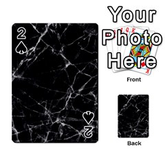 Black marble Stone pattern Playing Cards 54 Designs