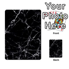 Black marble Stone pattern Multi-purpose Cards (Rectangle)