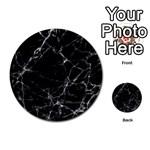 Black marble Stone pattern Multi-purpose Cards (Round)  Back 2