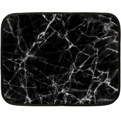 Black marble Stone pattern Fleece Blanket (Mini)