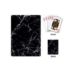 Black Marble Stone Pattern Playing Cards (mini)