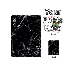 Black marble Stone pattern Playing Cards 54 (Mini)