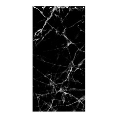 Black Marble Stone Pattern Shower Curtain 36  X 72  (stall)