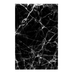 Black marble Stone pattern Shower Curtain 48  x 72  (Small)