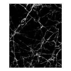 Black Marble Stone Pattern Shower Curtain 60  X 72  (medium)