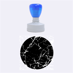 Black marble Stone pattern Rubber Round Stamps (Medium)