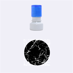 Black marble Stone pattern Rubber Round Stamps (Small)