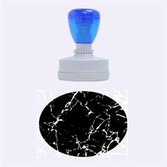 Black Marble Stone Pattern Rubber Oval Stamps