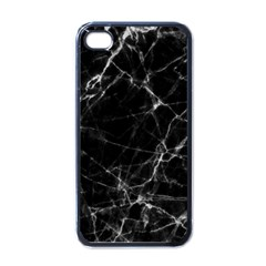 Black marble Stone pattern Apple iPhone 4 Case (Black)