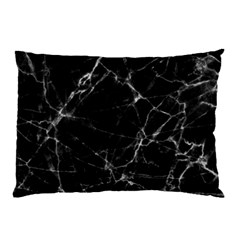 Black Marble Stone Pattern Pillow Cases (two Sides)